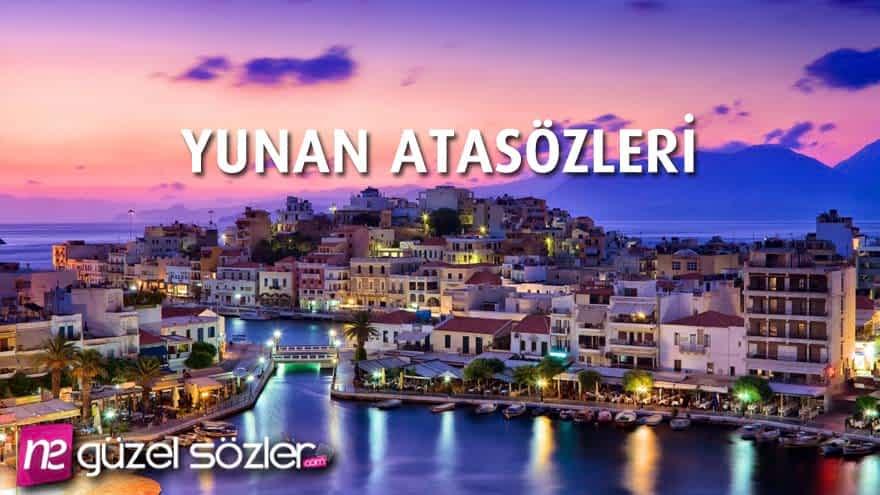 Yunan Atasözleri