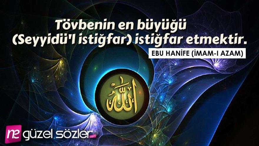 Ebu Hanife Sözleri